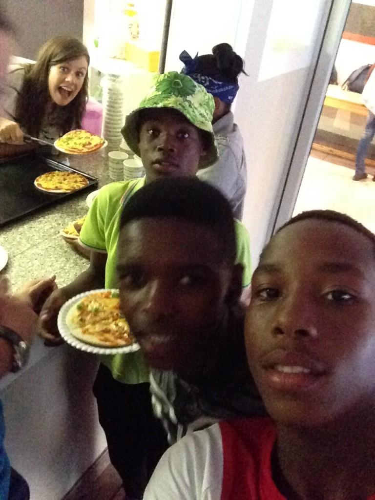 pizza selfie2