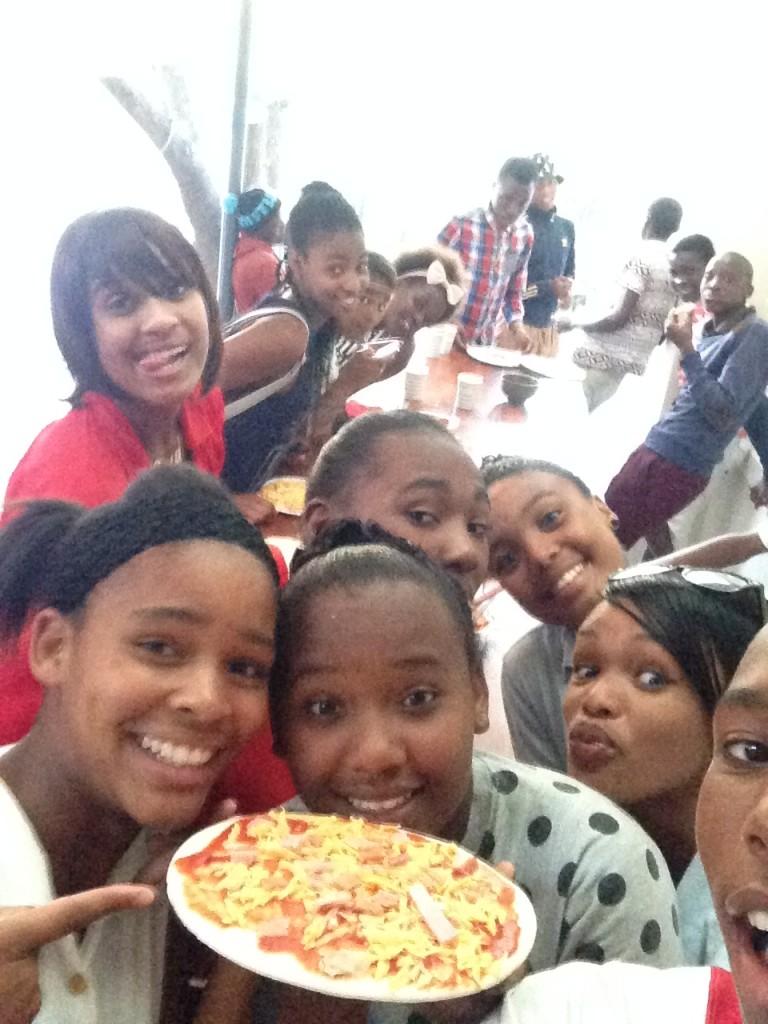pizza selfie